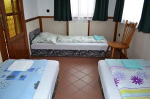 A 3 ágyas szoba
