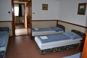 A 4 ágyas szoba